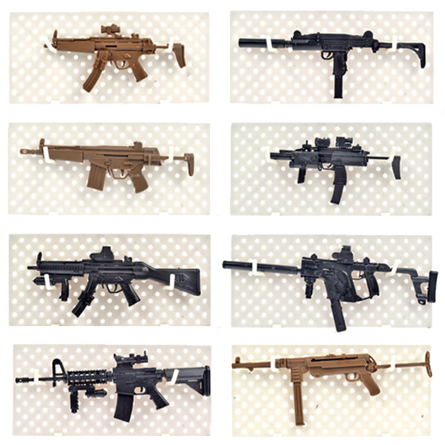 4D 총 프라모델 0585 MP5 MP40 MK18 Vector MP7 HK53 UZI
